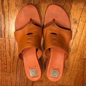 Orange Privo Leather Sandals